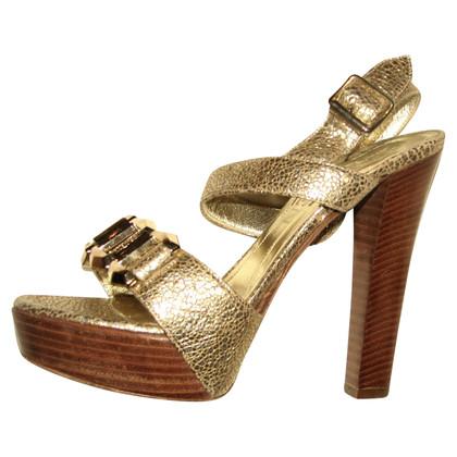 Alexander McQueen Gouden sandalen