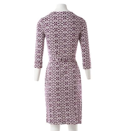 Diane von Furstenberg Wrap Dress in Purple and White