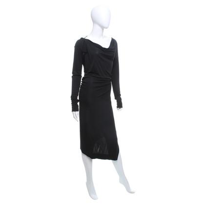 Vivienne Westwood Black dress with drapery