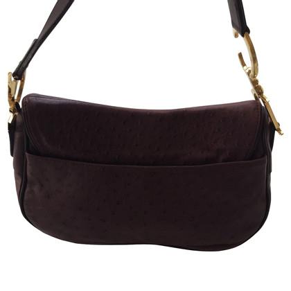 Christian Dior Handtasche aus Straußenleder
