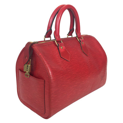 Louis Vuitton Speedy 25 Epi Leather Red