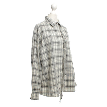 Hermès Cashmere shirt with check pattern