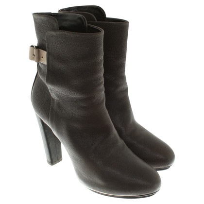 Balenciaga Leather boots in brown