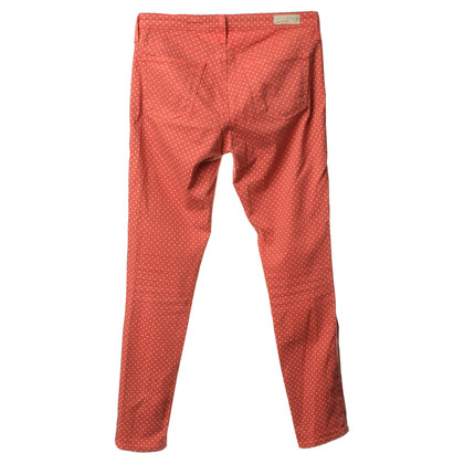 Adriano Goldschmied Red jeans with points