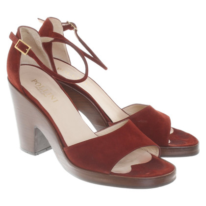 Pollini Sandals in Bordeaux