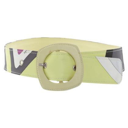 Emilio Pucci Waist belt with pattern