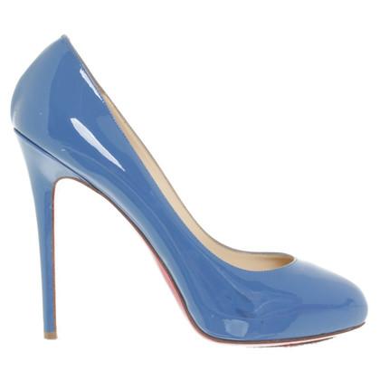 Christian Louboutin Lakleer in blauw pumps