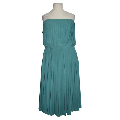 Halston Heritage Pleated strapless gown
