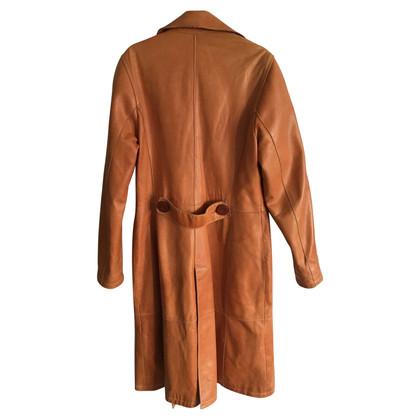 Dolce & Gabbana manteau en cuir vintage