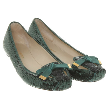 Armani Ballerinas in green