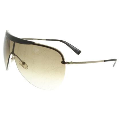 Giorgio Armani Monoshade-Sonnenbrille in Oliv