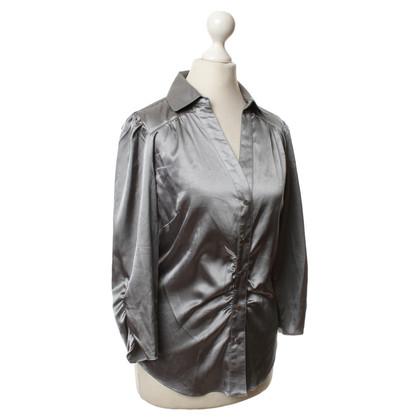 BCBG Max Azria Schimmernde Bluse in Silber