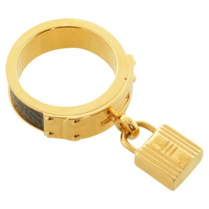 Hermès asciugamano anello color oro