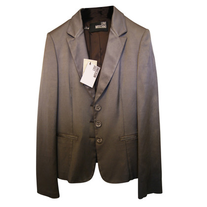 Moschino Love Blazer in silver grey