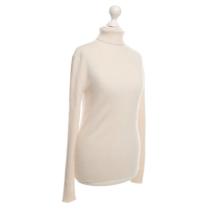 René Lezard Cream colored roll-neck sweater