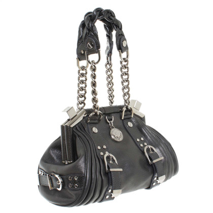 Gianni Versace Handtasche in Metallic-Grau