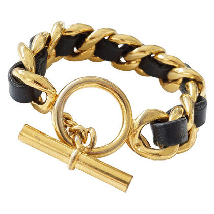 Chanel Bracelet with woven leather strap