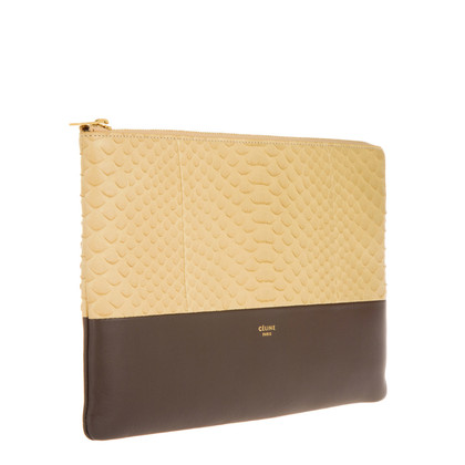 "Céline ""Clutch Pouch Phyton Leather Vanilla"""