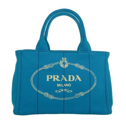 "Prada ""Canapa Shopping Bag Azzuro"""