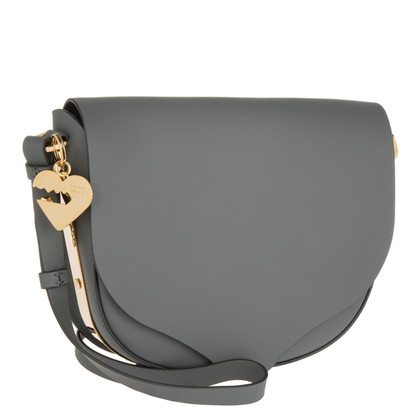 "Sophie Hulme ""Barnsbury Medium Saddle Bag Charcoal"""