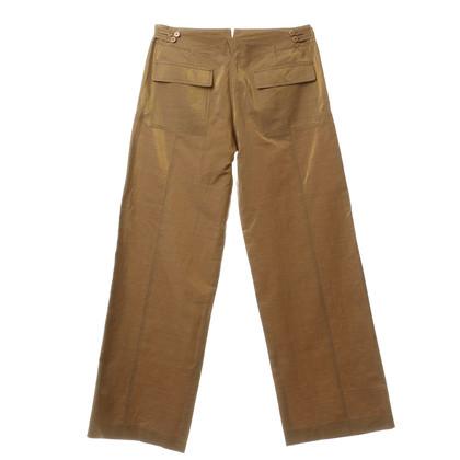 Armani Pantaloni con riflessi metallici