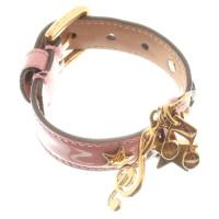 dolce gabbana armband aus rosafarbenem lackleder second hand dolce gabbana armband aus. Black Bedroom Furniture Sets. Home Design Ideas