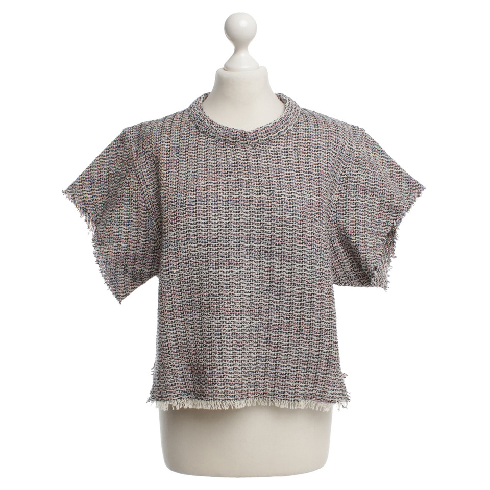Iro Short-sleeved sweater with pattern