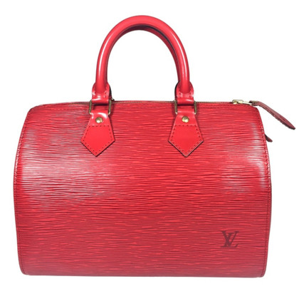 "Louis Vuitton ""Speedy 25 EPI leather"" in red"
