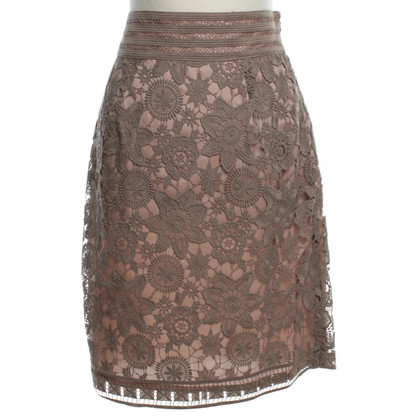 Hoss Intropia Lace skirt in nude