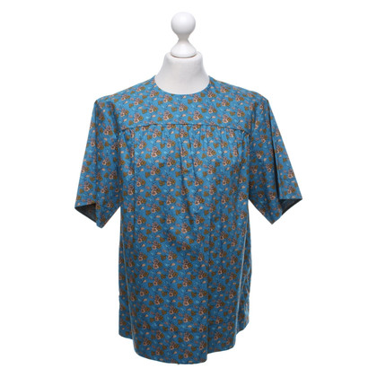 Louis Vuitton Short sleeve blouse with a floral pattern
