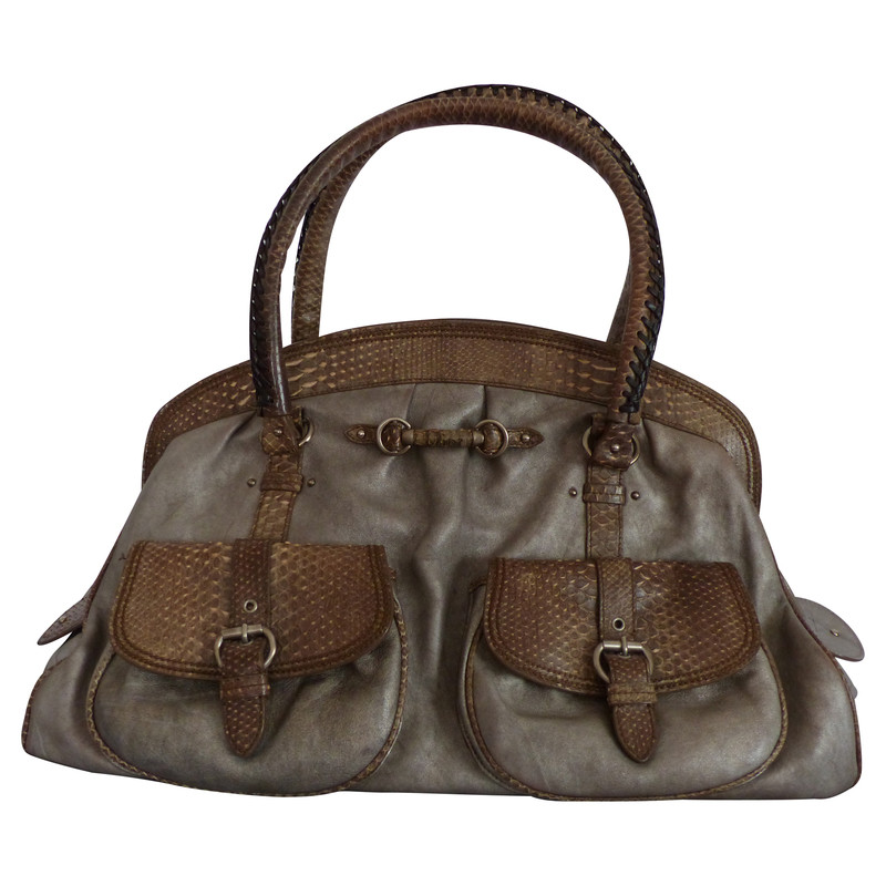 "Christian Dior ""My Dior"" Bag Python Leather"