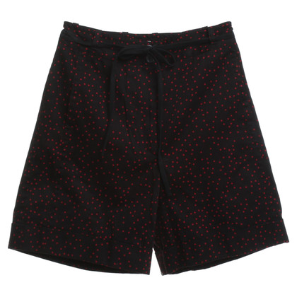 Dries van Noten Shorts in nero / rosso