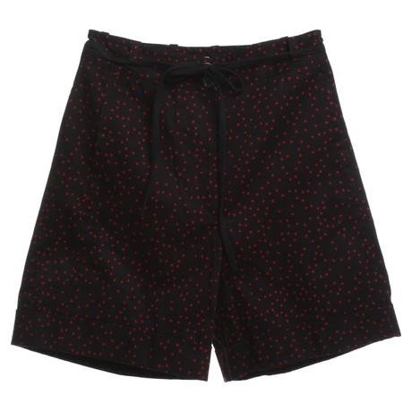 Dries van Noten Shorts in Schwarz/Rot Schwarz