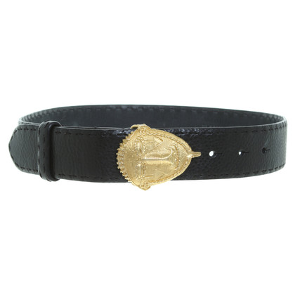 Jil Sander Belt in black/gold