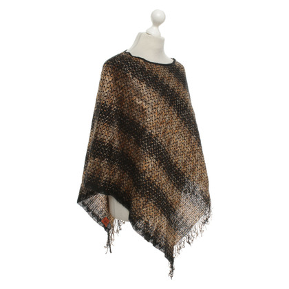 Moschino Poncho met patroon