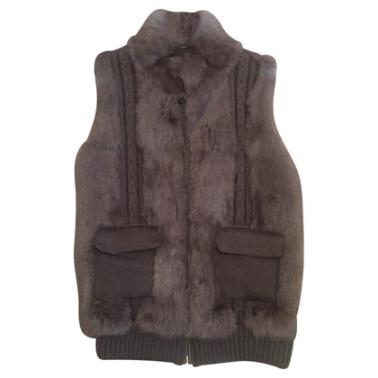 Oakwood Knitted vest with fur