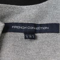 French Connection Kleid in Schwarz/Grau