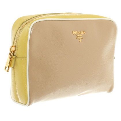 Prada Clutch in Gelb/Beige