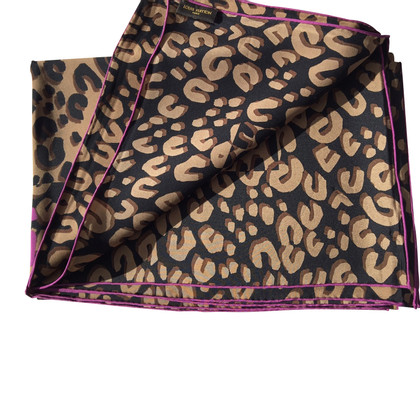 Louis Vuitton Silk scarf with leopard print