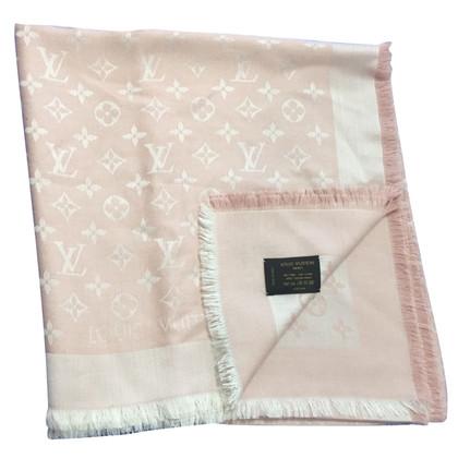 Louis Vuitton Monogramm-Denim in rosa Tuch