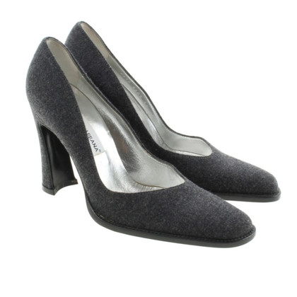 Dolce & Gabbana Grey flannel pumps