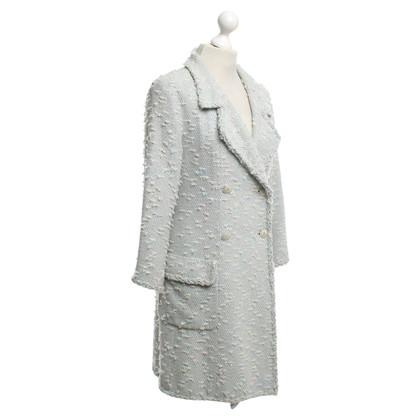 Chanel Bouclé coat in pastel shades