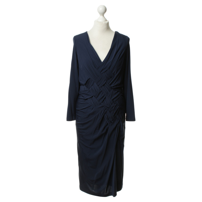 donna karan kleid in dunkelblau second hand donna karan. Black Bedroom Furniture Sets. Home Design Ideas