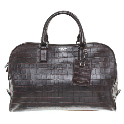 Michael Kors Travel bag with crocodile leather embossing