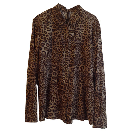 Marc Cain Silk blouse with Leo pattern