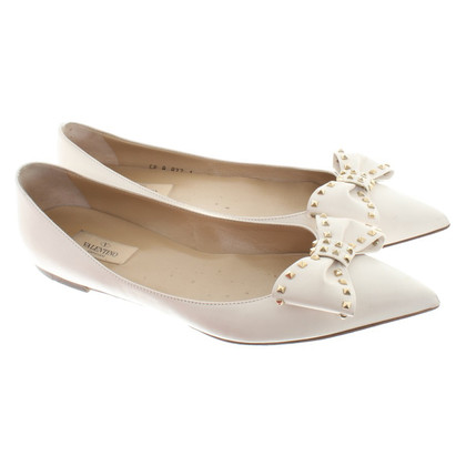 Valentino Ballerinas in cream white