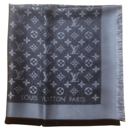 Louis Vuitton Monogram-shine doek zwart/zilver