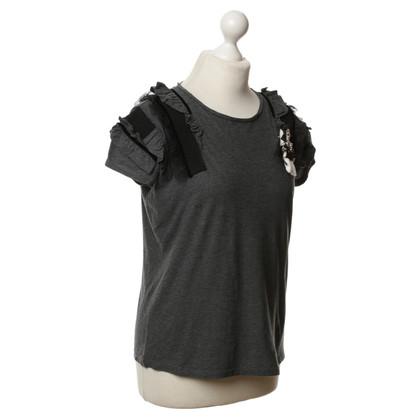 Twin-Set Simona Barbieri T-Shirt with ruffle
