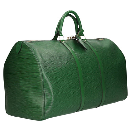 Louis Vuitton Keepall 50 Epi Leather Green