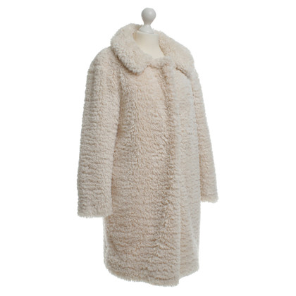 Nina Ricci Art fur coat in cream
